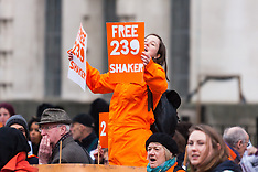 2015-02-14 Protest demands Briton Shaker Amer is freed from Guantanamo Bay after 13 years