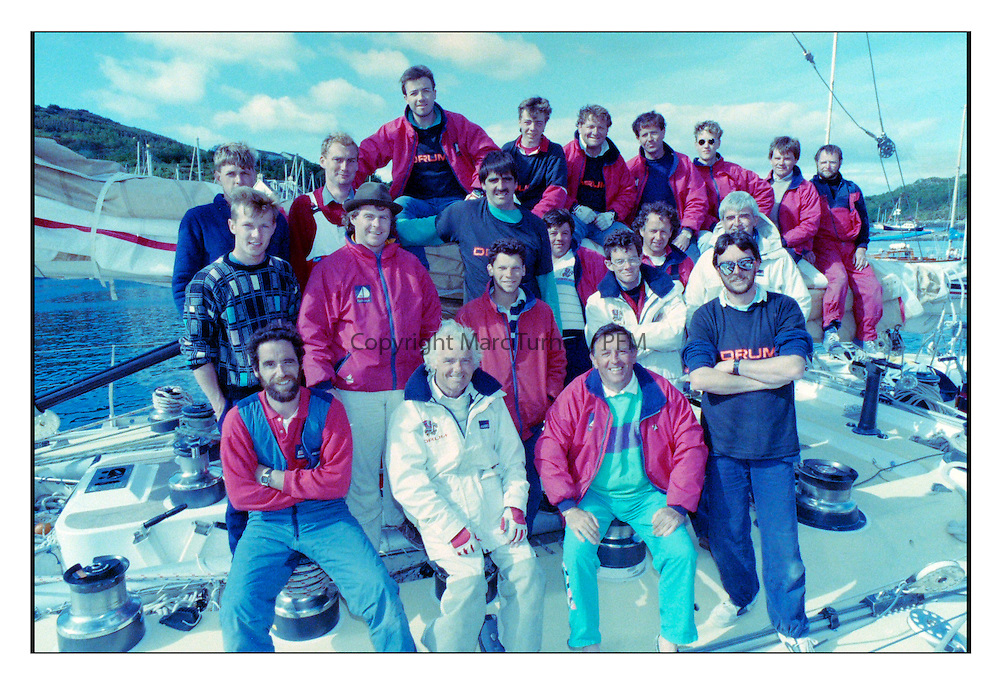 Historic Scottish Series Images<br /> <br /> The crew of Arnold Clark's DRUM in 1989<br /> <br /> Picture Copyright  PFM Pictures