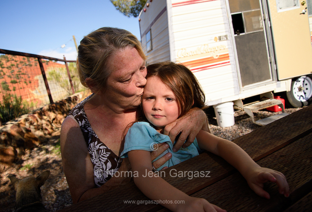 Ms. Gayle, (left), and Miss Lily and the Tinkerbell House, Bisbee, Arizona, USA.