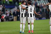 can - 09.05.2017 - Torino - Champions League Semifinale  -  Juventus-Monaco nella  foto: Claudio Marchisio e Mario Mandzukic esultano a fine partita