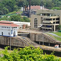 The Panama Canal Authority (ACP) reached a critical milestone for the Canal Expansion Program. The scope of work included encompasses the design and construction of the Canal's new set of locks and water-saving basins on both the Pacific and Atlantic ends of the Canal. Since Anco?n's inaugural Canal passage August 15, 1914, the waterway has offered safe, reliable and efficient service to more than 983,000 transits.Pictured: Miraflores Panama Canal Visitor Center.