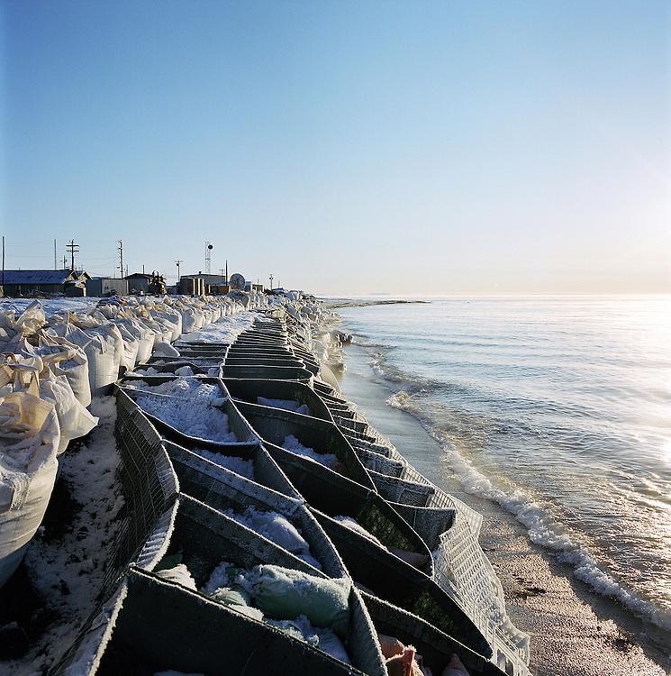 Kivalina seawall in 2007. 2007