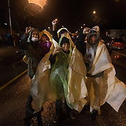 Zuriel Gray Jr., 13, and his family, all of whom live in the neighborhood of the Minneapolis Police Department 4th precinct,  joined protests after Black Lives Matter activists who had been camped out in the front entrance to the precinct were cleared out on Wednesday, November 18, 2015 in Minneapolis, Minnesota. <br /> <br /> When asked if they would stay all night, Gray said, &quot;I have basketball practice at 8. If this is still going on after that, we will come back.&quot;<br /> <br /> Protests and the encampment came in reaction to the shooting of 24-year-old Jamar Clark by Minneapolis Police on Sunday. <br /> <br /> <br /> Photo by Angela Jimenez for Minnesota Public Radio www.angelajimenezphotography.com