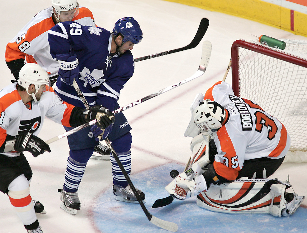 in an exhibition game at the John Labatt Centre in London, Ontario, September 23, 2010.<br /> REUTERS/Geoff Robins