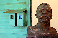 Bust of Maceo at the masonic lodge in Bauta, Artemisa, Cuba.