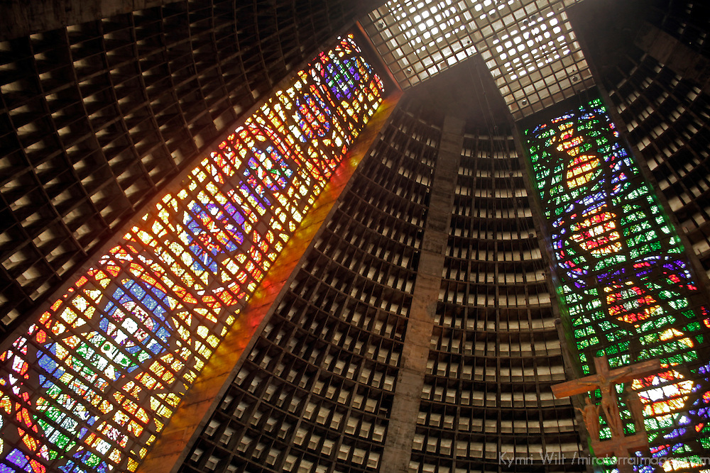 South America, Brazil. Cathedral Metropolitana of Rio de Janiero.