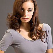 Long hair female model