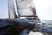 Speedboat sailing at the start of the Newport Bermuda Race 2010. The race started in Newport, Rhode Island on June 18, 2010.
