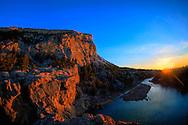 Sunrise over the Sun River near Augusta