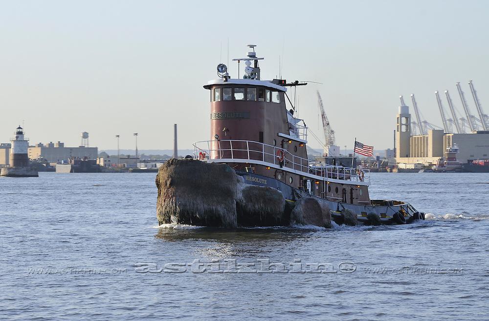 Tugboat on New York Harbor.