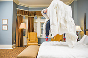 Pittsburg, Pennsylvania - April 15, 2015: Jumping on my hotel bed at The Mansions on Fifth.<br /> <br /> <br /> CREDIT: Matt Roth