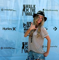 HUNTINGTON BEACH, CA - AUG  4: Supermodel Marisa Miller backstage at the U.S. Open of Surfing 2011 Walk the Walk finals.  Photo by Eduardo E. Silva