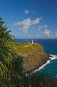 Kilauea Point Lighthouse at Kilauea National Wildlife Refuge; Kauai, Hawaii. .