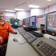 A control room inside the Grangemouth refinery