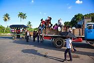 Transportation in San Juan y Martinez, Pinar del Rio, Cuba.