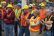 Skilled trades workers have been retooling the assembly line for the 2011 production launch of the Buick Verano at General Motors Orion Assembly Plant in Orion Township, MI, Thursday, October 7, 2010. (Jeffrey Sauger)