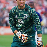 Everton Keeper Jan Mucha #1 during MLS International friendly match between Everton FC of England and DC United.<br /> <br /> Everton FC Defeated DC United 3-1 Saturday, July 23, 2011, at  RFK Stadium in Washington DC.