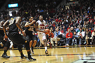 """Mississippi's Jarvis Summers (32) vs. Missouri's Jabari Brown (32) at the C.M. """"Tad"""" Smith Coliseum in Oxford, Miss. on Saturday, February 8, 2014. Mississippi won 91-88."""