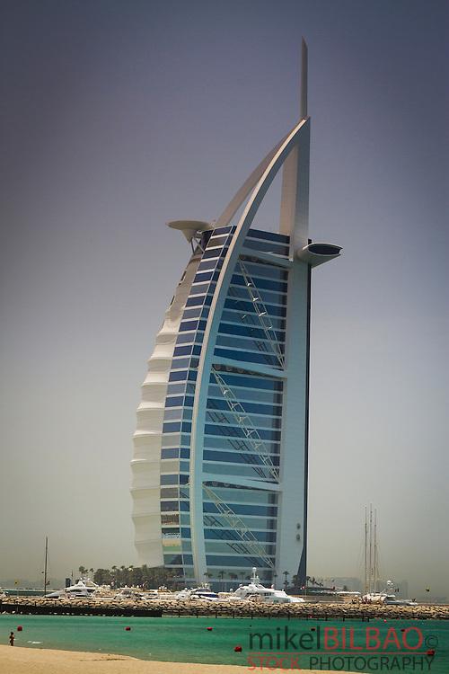 Burj al Arab Hotel. Jumeirah area. Dubai city.  Dubai. United Arab Emirates.