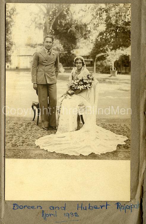 Doreen and Hubert Rajapakse. April 1932.Nita Proctor Collection