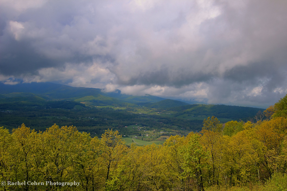&quot;Blue Ridge Stormin&quot;<br /> <br /> A scenic mountain view during a storm in the Blue Ridge Mountains of Virginia!!<br /> <br /> The Blue Ridge Mountains by Rachel Cohen
