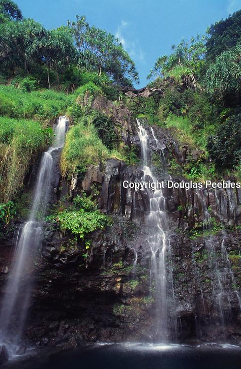 Blue Ginger Falls, Hana Coast, Maui, Hawaii<br />