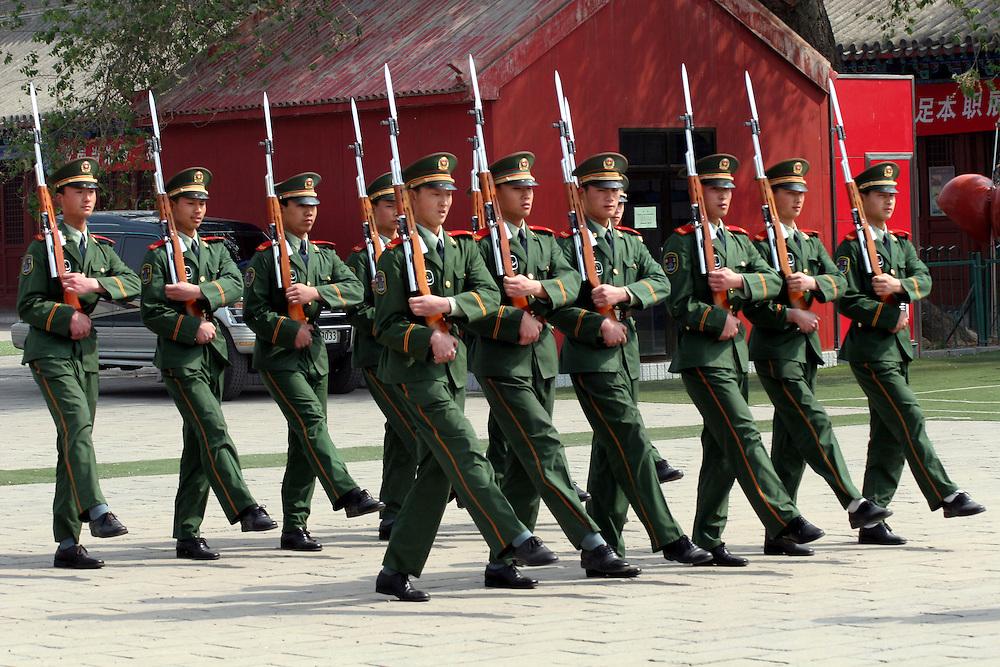 Asia, China, Beijing. Forbidden Palace Guards