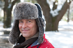 good looking man in a winter hat