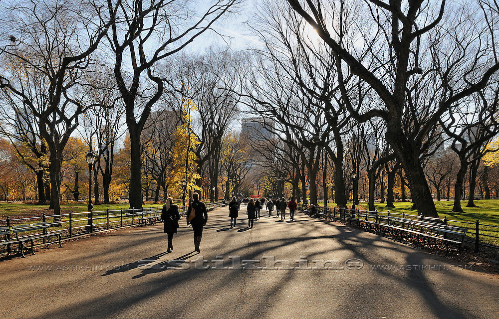 Central Park, Manhattan, Literary Walk