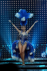 Kylie Minogue on stage at the SECC in Glasgow, at the start of her Showgirl tour 2005..©Pic : Michael Schofield..