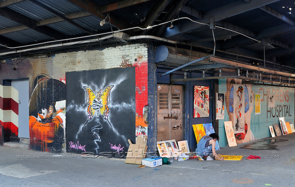 Artist corner in city (Manhattan)