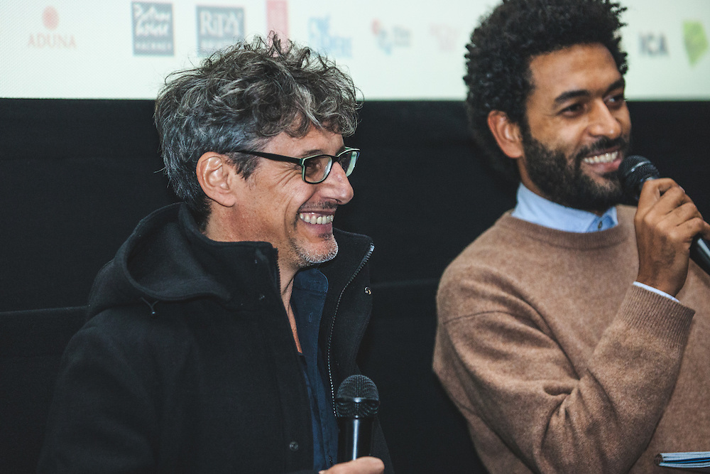 """Andalusian anthropologist and documentary filmmaker, Miguel Angel Rosales (""""GURUMBÉ: AFRO-ANDALUSIAN MEMORIES"""") during The Royal African Society's Annual Film Festival 2016. London, Tuesday 1 November 2016. (Photos/Ivan Gonzalez)"""