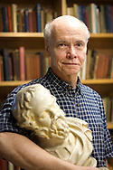 Professor of Classics Ed Phillips searches for Socratic wisdom while posing for a portrait in ARH..BEN BREWER/Grinnell College