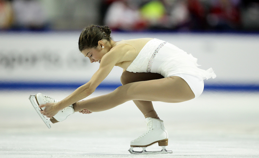 20101029- Kingston, Ontario,Canada--  Alissa Czisny of the United States skates her short program at Skate Canada International in Kingston, Ontario, Canada, October 29, 2010.<br /> AFP PHOTO/Geoff Robins