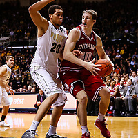 WEST LAFAYETTE, IN - JANUARY 30: Cody Zeller #40 of the Indiana Hoosiers makes a move to the basket as A.J. Hammons #20 of the Purdue Boilermakers guards at Mackey Arena on January 30, 2013 in West Lafayette, Indiana. Indiana defeated Purdue 97-60. (Photo by Michael Hickey/Getty Images) *** Local Caption *** Cody Zeller; A.J. Hammons