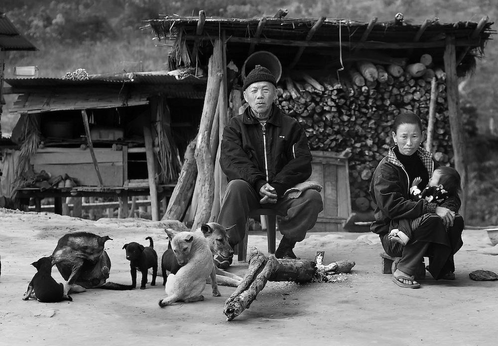A Hmong family near Luang Namtha, Laos.