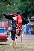 Karibik Trinidad Dragon Stelzenschule Keylemanjahro School of Arts and Culture Suedamerika Stelzen Karneval in Trinidad Carnival soziales Projekt HF; (Farbtechnik sRGB 55.6 MByte vorhanden) English Moko Jumbies Caribbean West Indies Trinidad Dragon stilt walking school Keylemanjahro School of Arts and Culture South America carnival in Trinidad social project  image from the book MOKO JUMBIES The Dancing Spirits of Trinidad by laif photographer Stefan Falke page 125b Geography / Travel S?damerika Karibik Trinidad Tobago