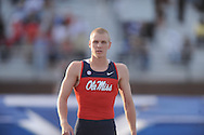 Ole Miss pole vaulter Sam Kendricks at the Ole Miss Invitational Track Meet in Oxford, Miss. on Saturday, April 13, 2013.