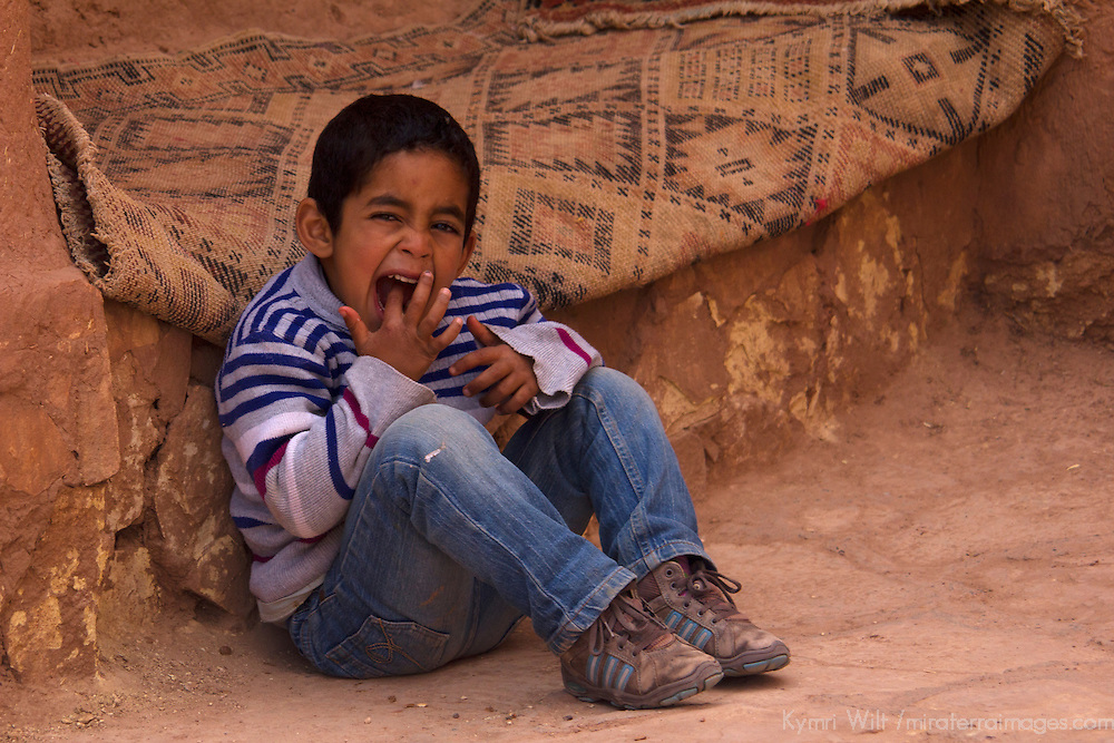 Africa, Morocco, Ourazazate. Resident kid of Ait Ben Haddou.