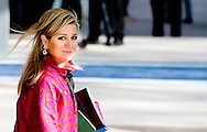 25-3-2014 THE HAGUE  - Arrival of Queen MAxima for the NSS summit day 2. COPYRIGHT ROBIN UTRECHT