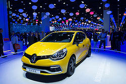 New Renault Clio RS on display at Paris Motor Show 2012