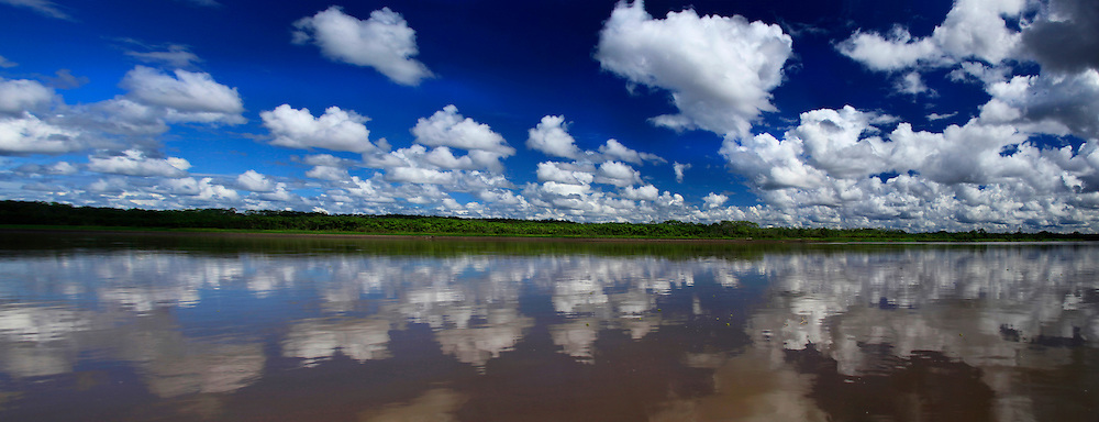 South America, Peru, Amazon. Amazon panorama.