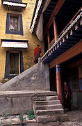 Monastery yard..LAMBRANG MONASTERY IN XIAHE - CHINA.copyright: Androniki Christodoulou.
