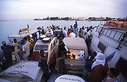 catching the ferry from Rosso in Mauritania to Senegal