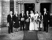 1953 - Wedding of Tony Farrell, A.A.,  C.C.A., and Miss Leonie Marie