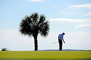Matt Kuchar reacts to a his putt on the 17th green during the final round of the RBC Heritage golf tournament in Hilton Head Island, S.C., Sunday, April 20, 2014. Kuchar won the tournament with 11-under par. (AP Photo/Stephen B. Morton)