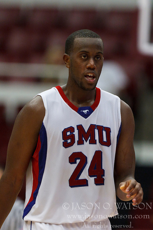 Nov 15, 2011; Stanford CA, USA;  Southern Methodist Mustangs forward Robert Nyakundi (24) before a free throw against the Fresno State Bulldogs during the second half of a preseason NIT game at Maples Pavilion.  Fresno State defeated Southern Methodist 54-52. Mandatory Credit: Jason O. Watson-US PRESSWIRE