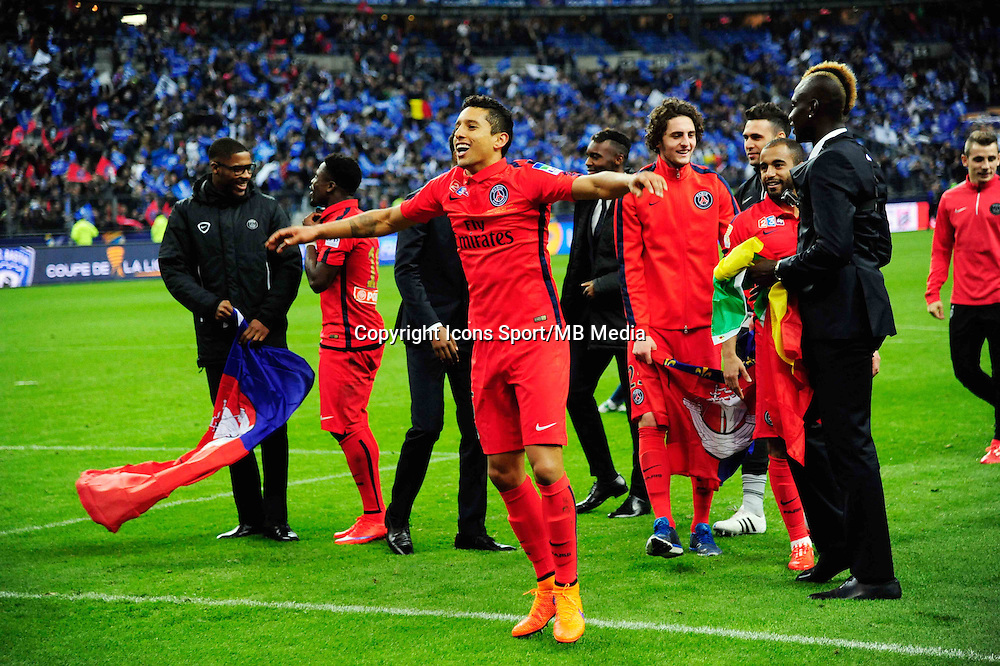 Victoire du PSG /  MARQUINHOS - 11.04.2015 -  Bastia / PSG - Finale de la Coupe de la Ligue 2015<br />