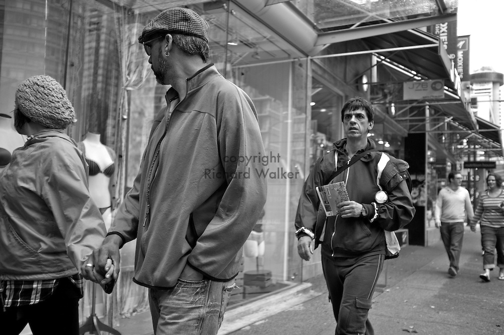 2011 September 25 - Pedestrians, Robson Street, Vancouver, BC, Canada. Copyright Richard Walker