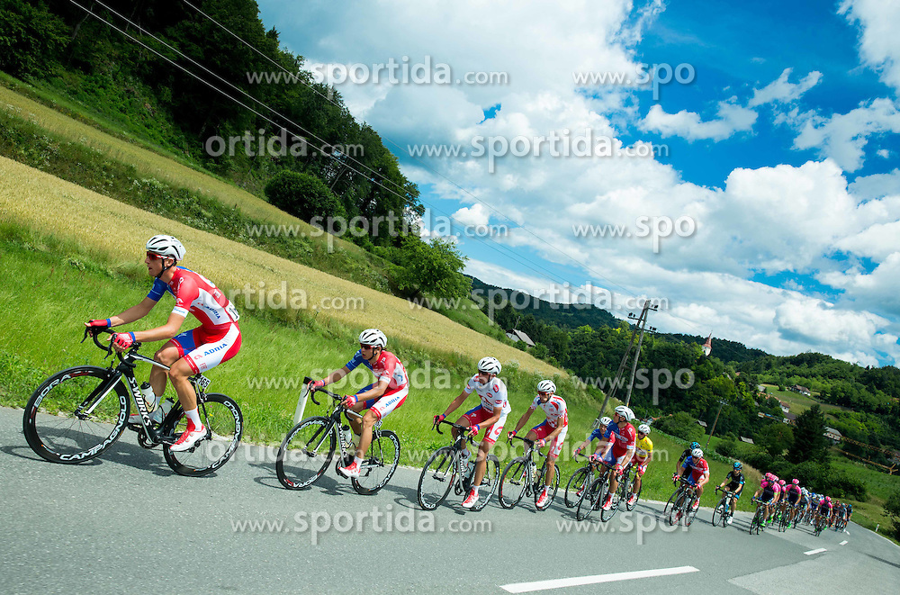 PER David (Slovenia) of Adria Mobil, BOZIC Jon (Slovenia) of Adria Mobil, NOVAK Domen (Slovenia) of Adria Mobil, ROGINA Radoslav (Croatia) of Adria Mobil  during Stage 4 of 22nd Tour of Slovenia 2015 from Rogaska Slatina to Novo mesto (165,5 km) cycling race  on June 21, 2015 in Slovenia. Photo by Vid Ponikvar / Sportida